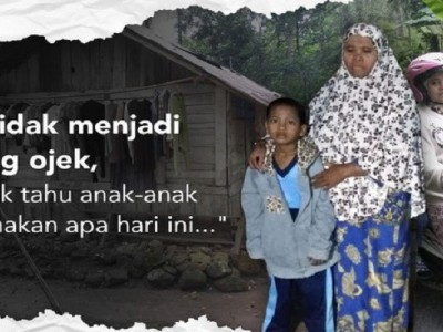 Bantu Ibu Tukang Ojek Berjuang Hidupi Keluarga